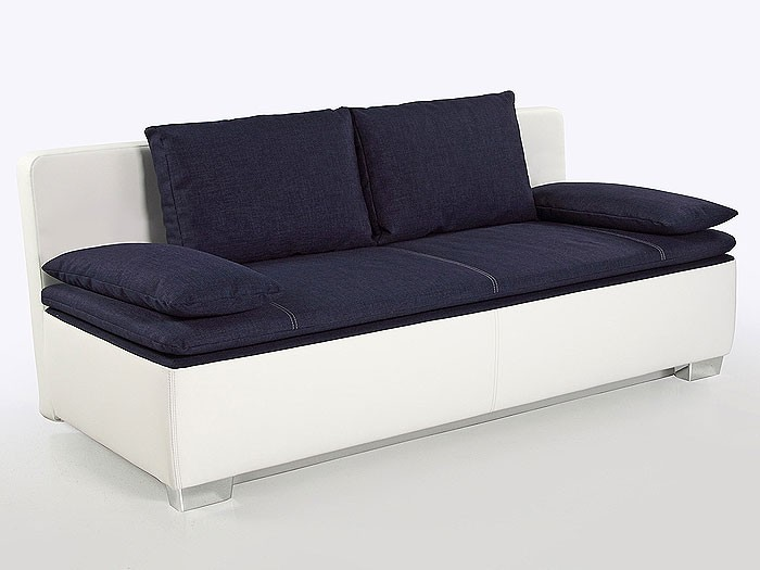 schlafsofa couch duana 202x96cm blau weiss. Black Bedroom Furniture Sets. Home Design Ideas