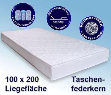 Matratze Avance 100x200cm, Taschenfederkernmatratze, Härtegrad mittel