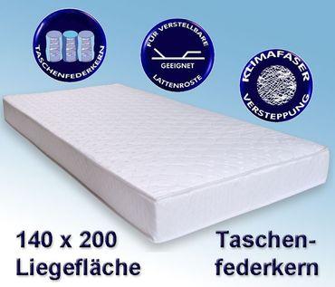 Matratze Avance 140x200cm, Taschenfederkernmatratze, Härtegrad mittel