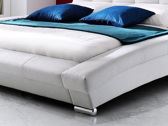 bett komplett 180x200, polsterbett komplett emilo bett 180x200 weiß + matratze + lattenrost, Design ideen