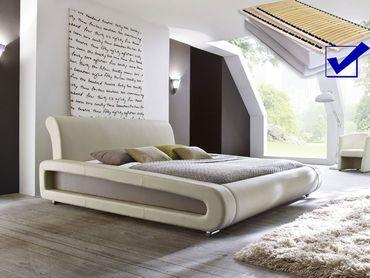 Polsterbett komplett Blain Bett 180x200 beige + Lattenrost + Matratzen