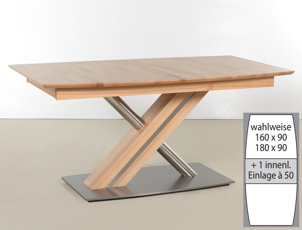 esszimmertisch ausziehbar, säulentisch ataro c 1xl bootsform tisch ausziehbar x-form esstisch, Esszimmer