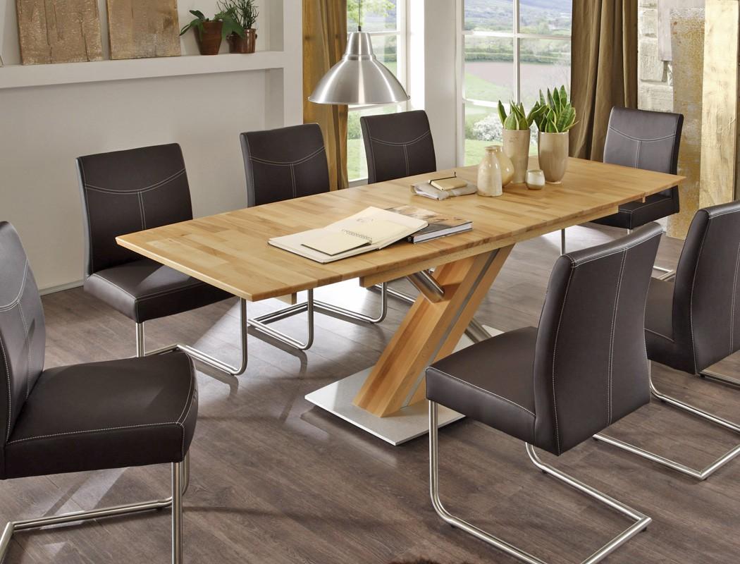 AuBergewohnlich Hochwertiger Säulentisch Ataro 2XL Ausziehbar Esstisch Massivholz Bootsform  Säule C X Form Holztisch Varianten U2013