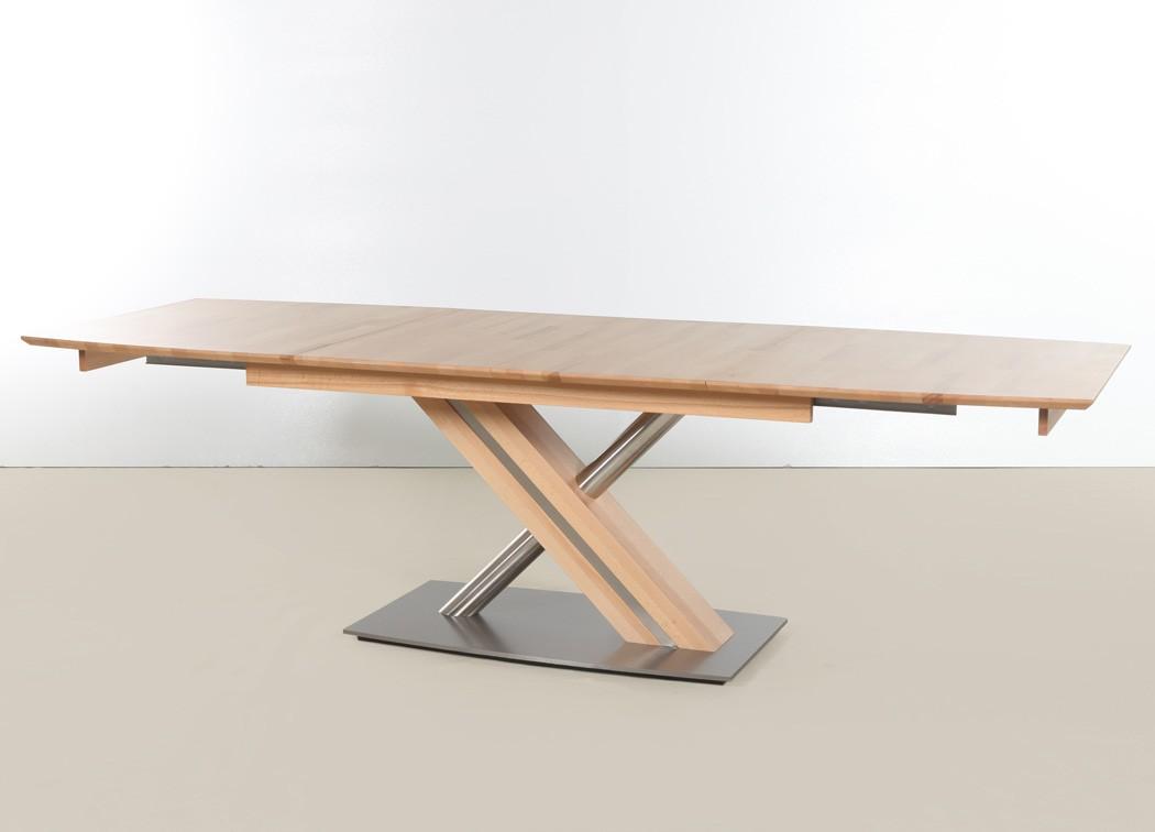 Bezaubernd Holztisch Ausziehbar Ideen Von Hochwertiger Säulentisch Ataro 2xl Esstisch Massivholz Bootsform