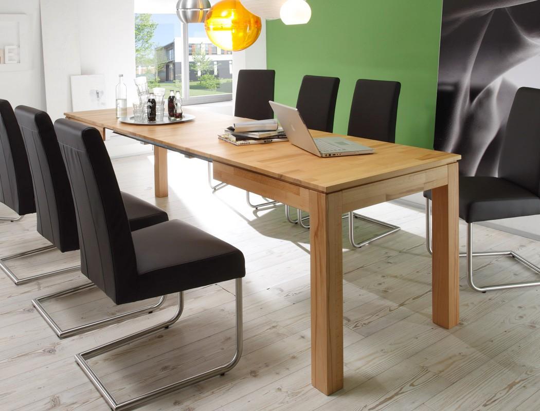 Holztisch massiv ausziehbar  Esstisch Ramon 3XL 140(260)x80x77cm ausziehbar Holztisch ...