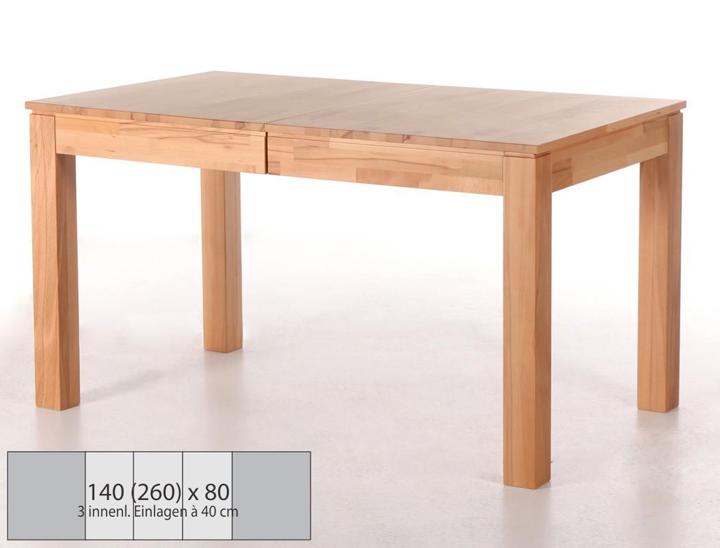 esstisch ramon 3xl 140 260 x80x77cm ausziehbar holztisch mittelauszug wohnbereiche esszimmer. Black Bedroom Furniture Sets. Home Design Ideas