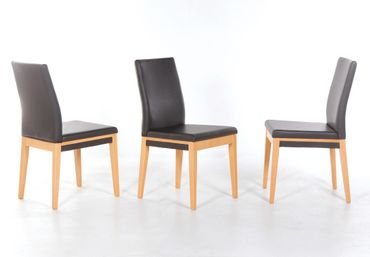 Stuhl Santorin Kunstleder Polsterstuhl Varianten Esszimmer Stühle