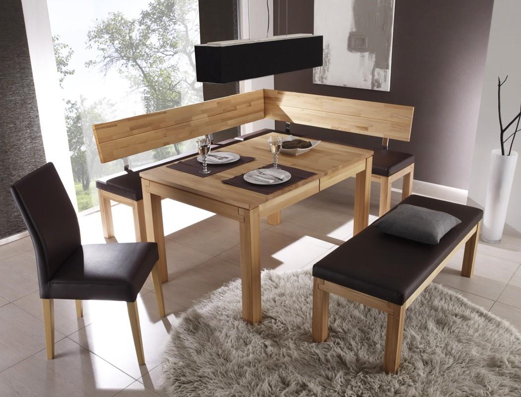 Cool Sitzecke Esszimmer Dekoration Von Eckbank Luca Small 190x150cm Holzbank Varianten Massivholzbank