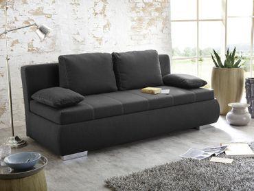 Dauerschläfer Schlafsofa Merlin 210x112cm dunkel grau Sofa Boxspring
