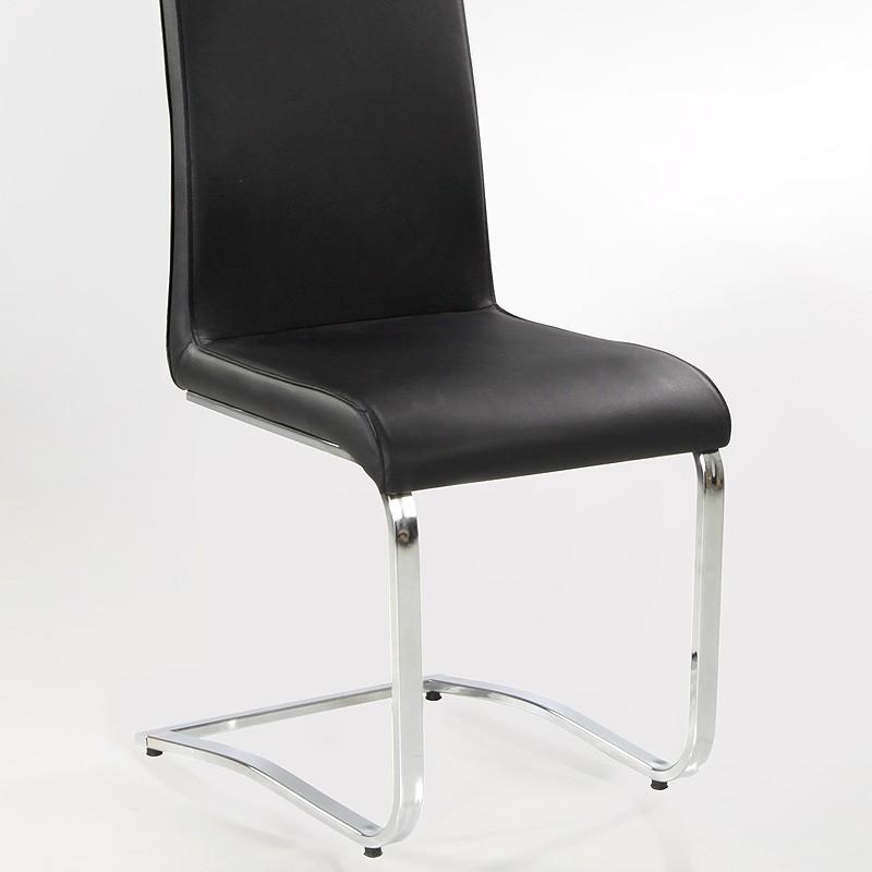 freischwinger stuhl eugenia schwarz chrom schwingstuhl. Black Bedroom Furniture Sets. Home Design Ideas