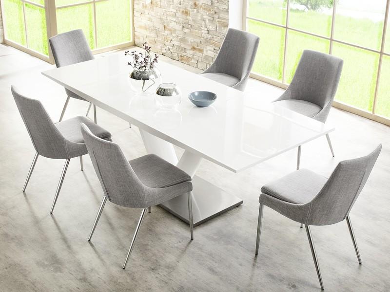 Esszimmer Stühle esszimmerstuhl stuhl alia stoff grau gestell chrom wohnzimmerstuhl