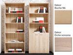 Regal Sora 71x180x35cm, mit/ohne Türen, Variante Bücherregal Wandregal 001
