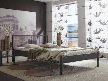 Metallbett Bente, versch. Varianten, Bettgestell Jugendbett Doppelbett
