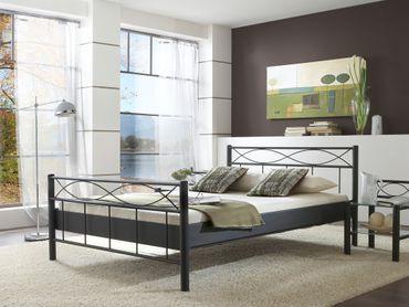 Metallbett Lorel, versch. Varianten, Bettgestell Jugendbett Doppelbett
