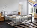 Metallbett komplett, Bett Lucie + Lattenrost + Matratze, Varianten 001