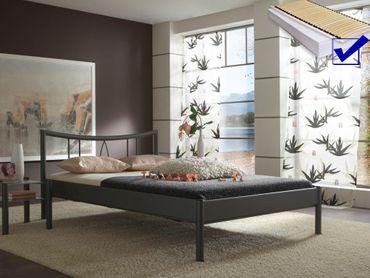 Metallbett komplett, Bett Nara + Lattenrost + Matratze, Varianten
