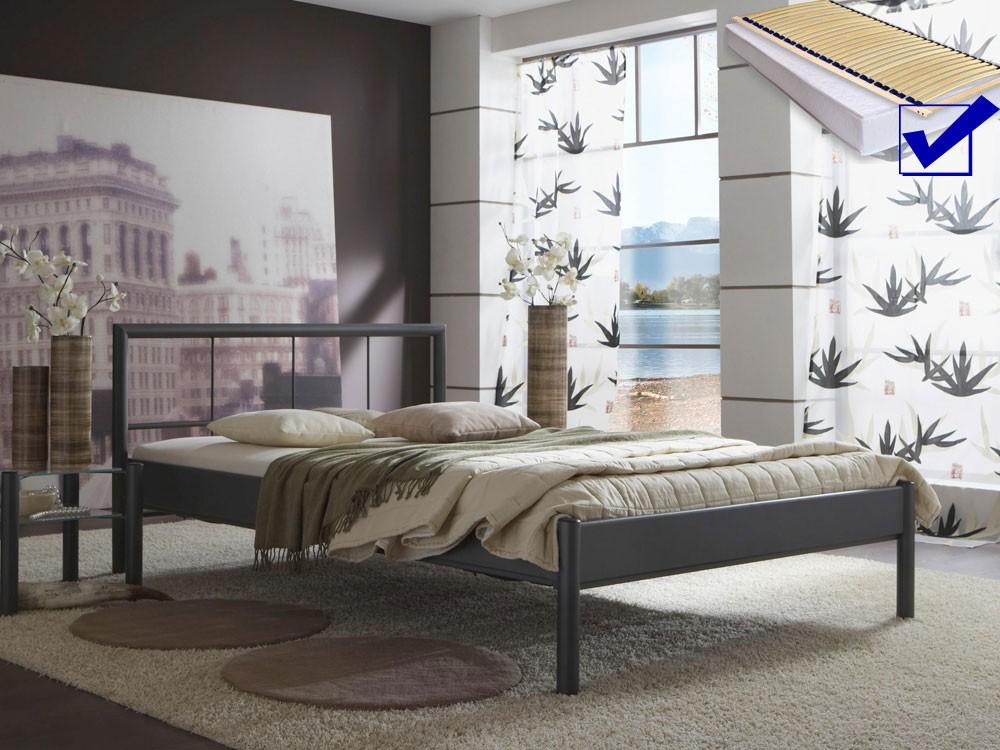 metallbett komplett bett bente lattenrost matratze varianten wohnbereiche schlafzimmer. Black Bedroom Furniture Sets. Home Design Ideas