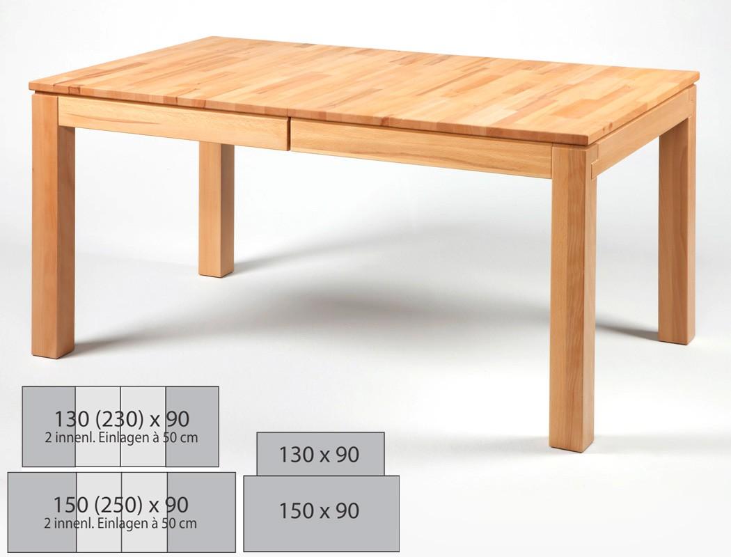 Esstisch Grover Varianten fest oder ausziehbar Massivholztisch ...