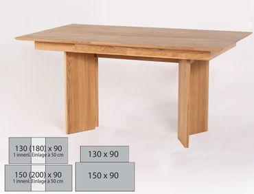 Wangentisch Joel Varianten fest oder ausziehbar Massivholztisch