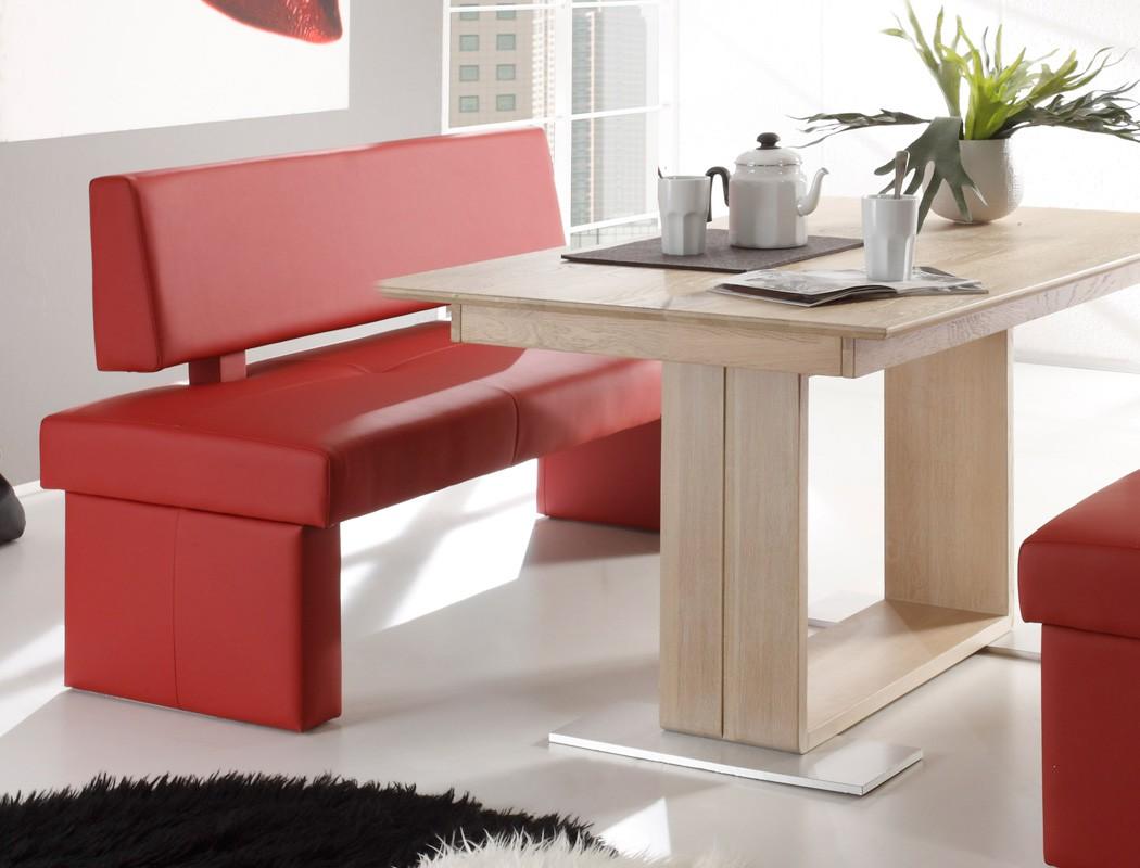 sitzgruppe eiche sonoma tisch bennet 130x90cm sitzbank dorian 130cm wohnbereiche esszimmer. Black Bedroom Furniture Sets. Home Design Ideas
