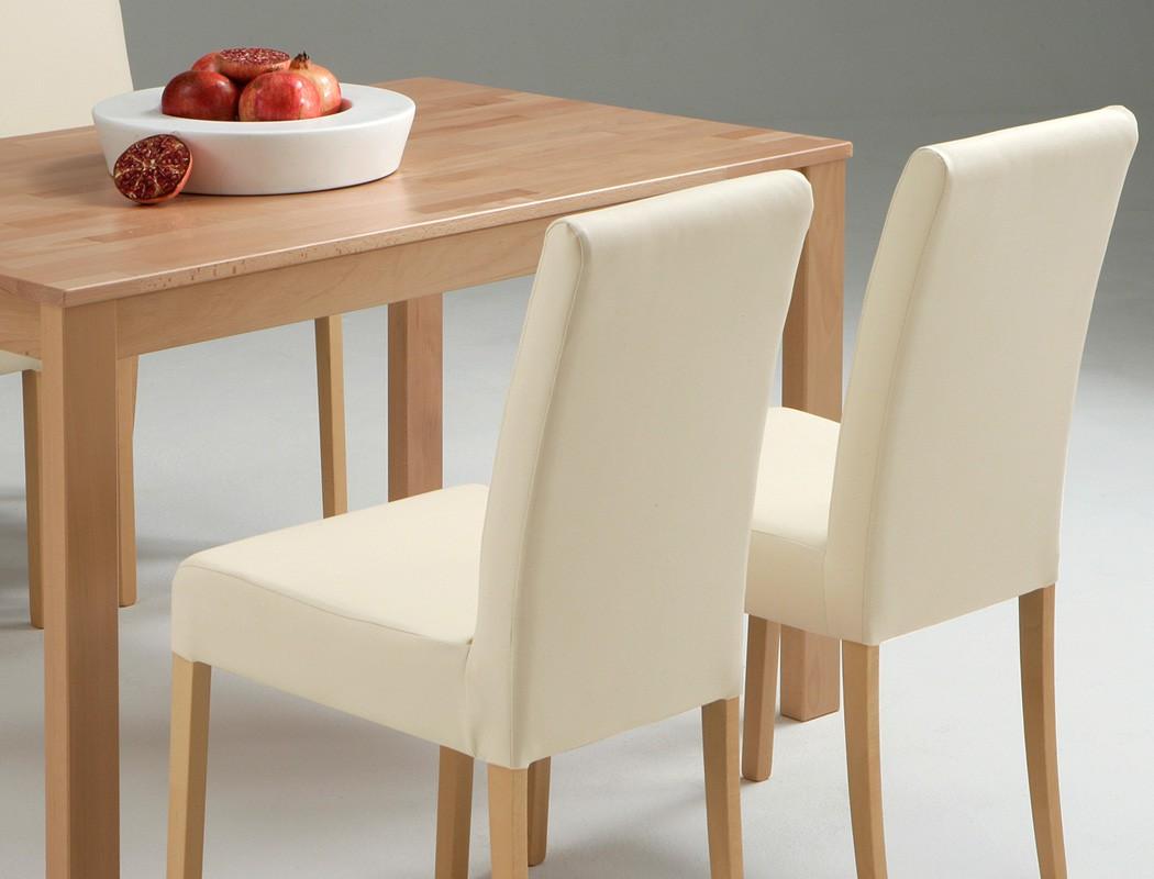 tischgruppe buche esstisch emilian 125x80cm 4 st hle ivett beige wohnbereiche esszimmer. Black Bedroom Furniture Sets. Home Design Ideas