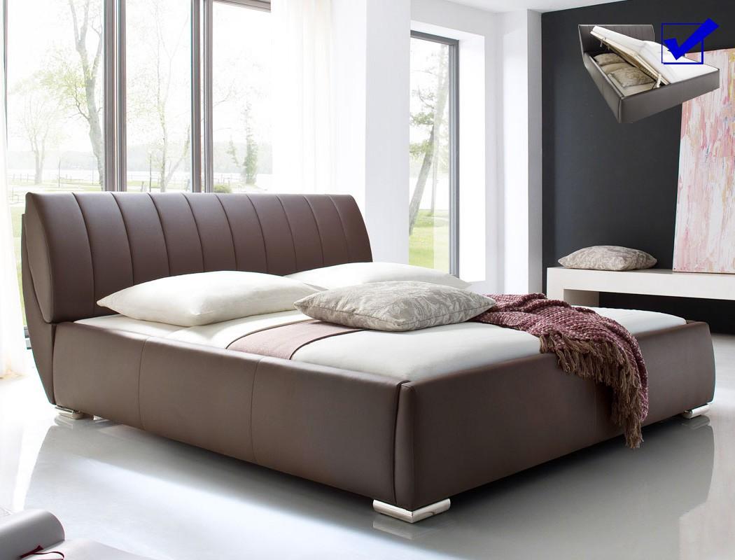 polsterbett luanos 180x200 braun kunstleder rost klappbar. Black Bedroom Furniture Sets. Home Design Ideas