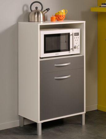 Küchenschrank Opika 1 60x118x43 cm weiß grau Schrank Beistellschrank