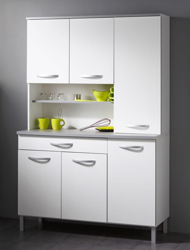 Küchenschrank Seamus 19 19x19x19 cm weiß grau Schrank Buffetschrank