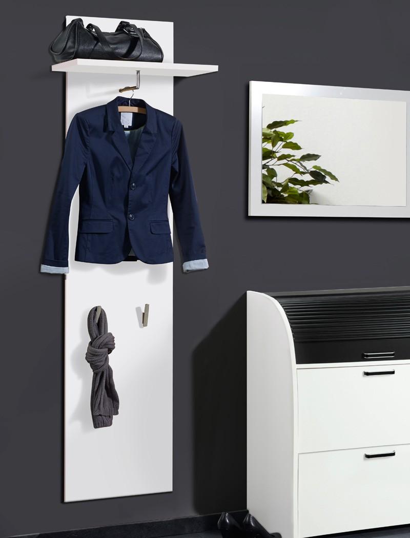 Wandpaneel garderobe ottawa 45x130x28 cm wei for Garderobe 2 m breit