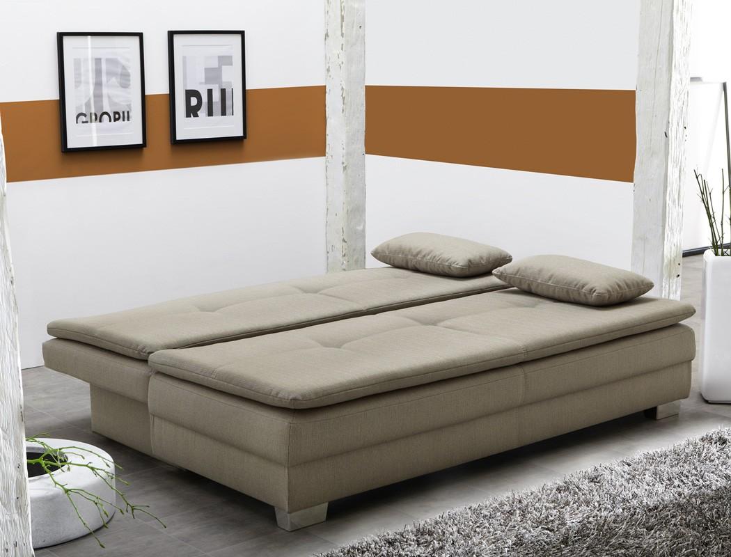 Details Zu Schlafsofa Floris Cappuccino 202x101 Cm Sofa Couch Bettkasten Funktionssofa