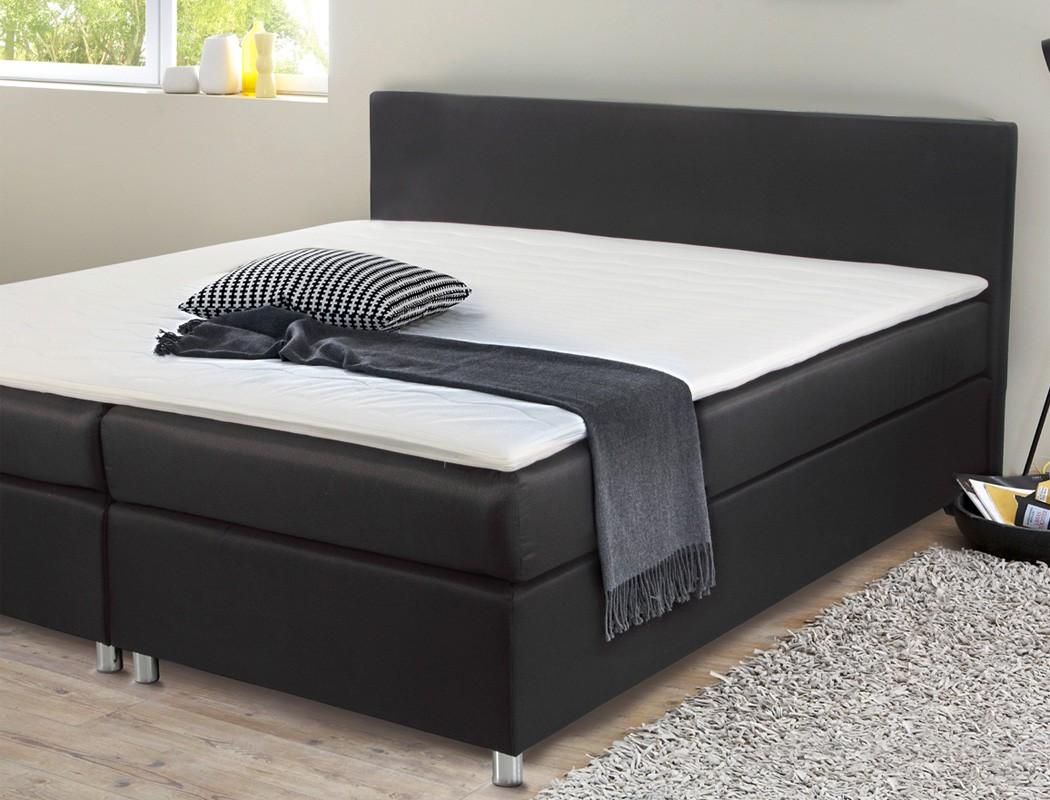 boxspringbett 180x200 cm bezug schwarz doppelbett hotelbett 6942 wohnbereiche schlafzimmer. Black Bedroom Furniture Sets. Home Design Ideas