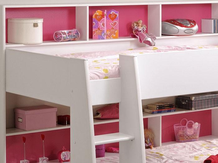 Etagenbett Tam Tam Gebraucht : Parisot etagenbett hochbett tamtam weiß cm pink blau