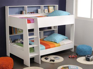 Parisot Etagenbett Hochbett TamTam 1 weiß 209x165x132cm pink blau Bett