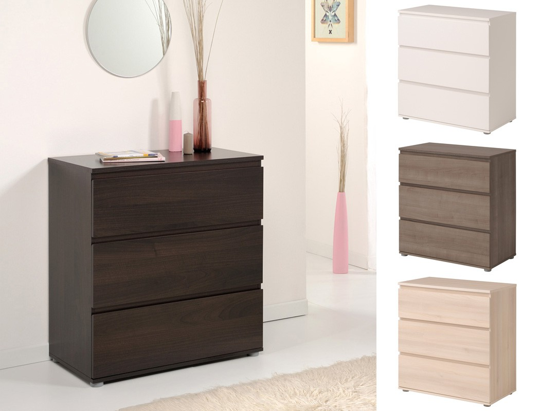 kommode neolie 77x82x40 cm schubkastenkommode sideboard schlafzimmer wohnbereiche schlafzimmer. Black Bedroom Furniture Sets. Home Design Ideas