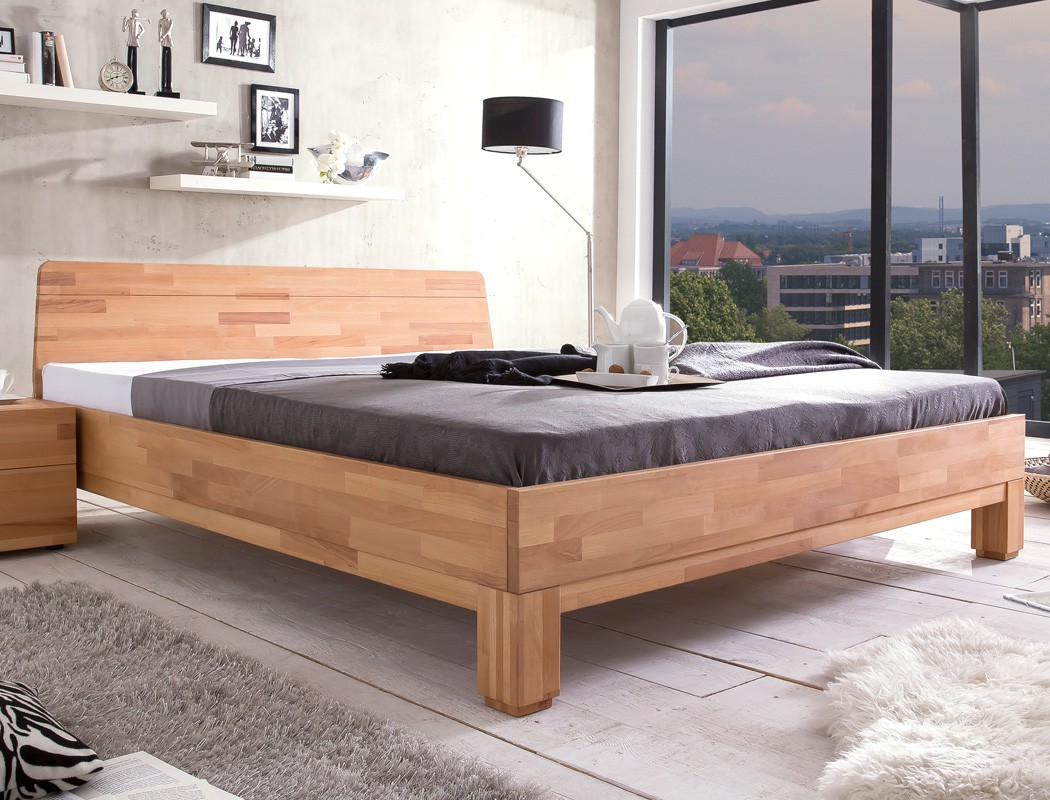 massivholzbett rino 200x200 kernbuche ge lt doppelbett. Black Bedroom Furniture Sets. Home Design Ideas