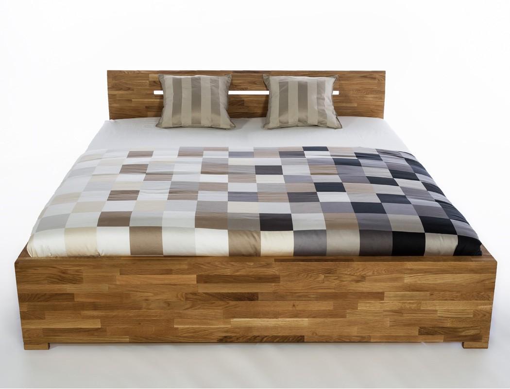 Massivholzbett Savin 180x200 Wildeiche geölt Doppelbett Schlafzimmer ...