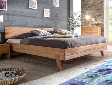 Massivholzbett Liano 160x200 Kernbuche geölt Doppelbett Schlafzimmer