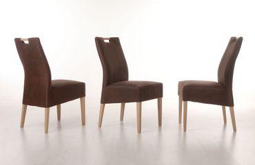 6x Stuhl Vigga Polsterstuhl Varianten Esszimmerstuhl Massivholz Stühle