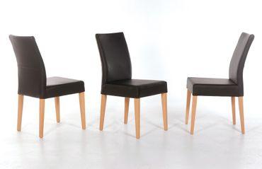 4x Stuhl Cordia Polsterstuhl Varianten Esszimmerstuhl Massivholz Stühle