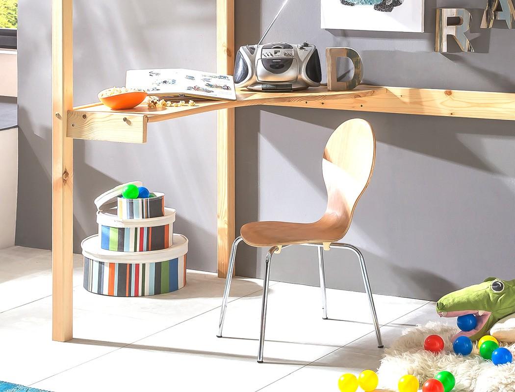 Etagenbett Mit Schreibtisch : Hochbett mit schreibtisch dean kiefer lackiert massivholz