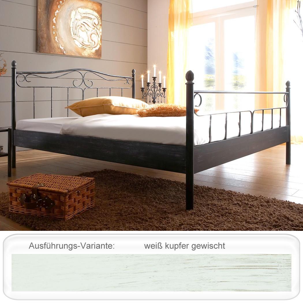 metallbett rinia wei kupfer gewischt gr e nach wahl bettgestell bett wohnbereiche schlafzimmer. Black Bedroom Furniture Sets. Home Design Ideas