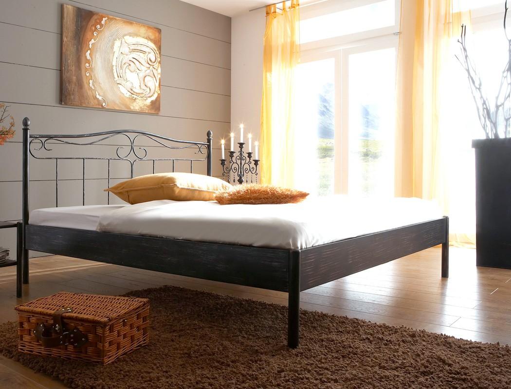 Blickfang Bett Größe Sammlung Von Metallbett Paros Schwarz Silber Gewischt Größe Nach