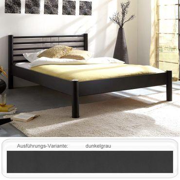 Metallbett Cara dunkelgrau Größe nach Wahl Futonbett Doppelbett Bett