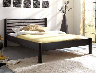 Metallbett Cara schwarz matt struktur Größe nach Wahl Futonbett Bett