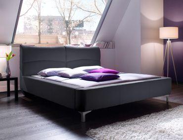 Polsterbett Cloude Bett 160x200 cm Stoffbezug anthrazit Doppelbett