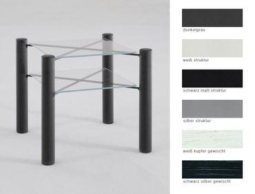 Nachttisch Fabia 45x43x45 cm Metall Glas Farbe nach Wahl Nachtkonsole