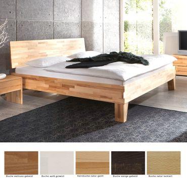 Massivholzbett Wallis Buche Farbe und Größe nach Wahl Futonbett Bett