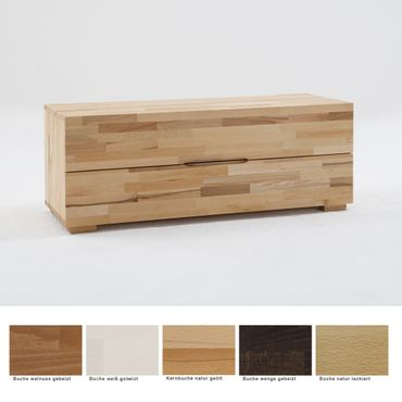 Lowboard Goms 4 120x45x45 cm Buche massiv Farbe nach Wahl Schubkasten