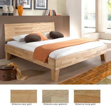 Massivholzbett Chiasso Eiche Farbe und Größe nach Wahl Futonbett Bett