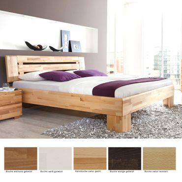 Massivholzbett Losone Buche Farbe und Größe nach Wahl Futonbett Bett